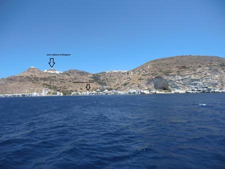 die Inselskyline von Milos