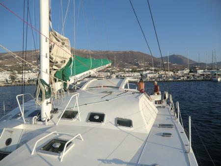 Ankunft in Paros Hafen