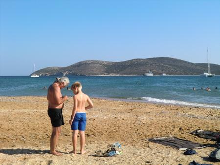 An Bord und am Strand