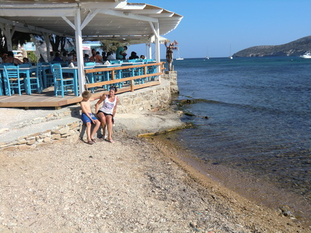 Bar am Strand von Ag. Georgios
