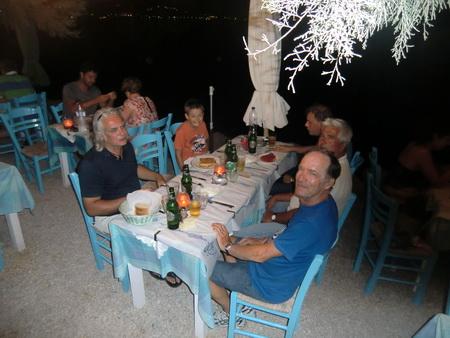 Abendessen am Hafen