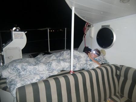 An Deck schlafen