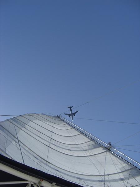 134-Flugzeug-Großsegel
