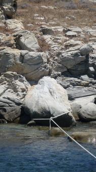Ankerfelsen Rineia - Schildkröte und Hintern