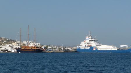 Ankerplatz Paroikia mit Fährhafen