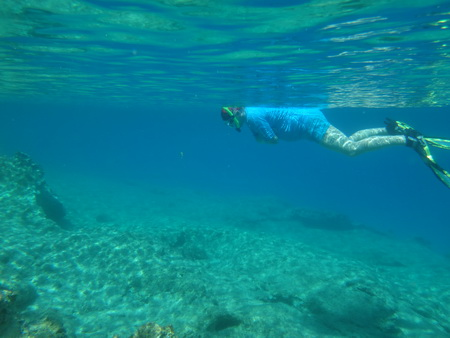 Badepause bei Makronisi