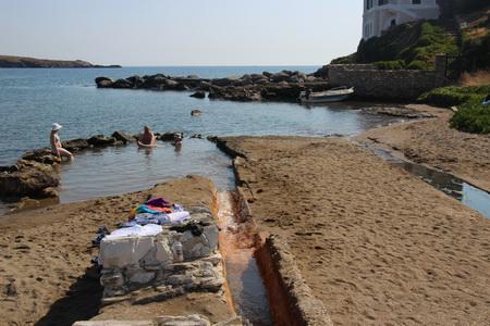 heisse Quelle in Loutra auf Kythnos