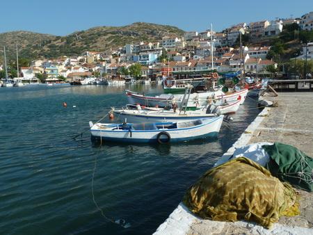 in Hafen Pythagoreion auf Samos