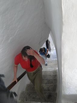 Aufstieg im Kloster