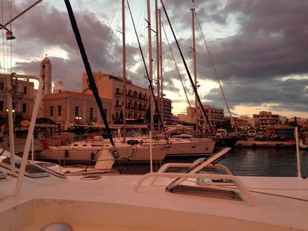 Hafen Tinos am Morgen