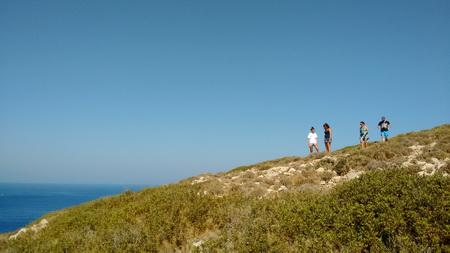 Tageswanderung zum Hügel in der Bucht