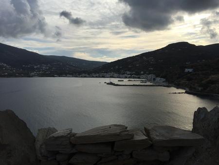 Hafen Kurthiou auf Andros