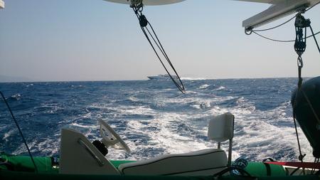 Paros-Naxos-Kanal bei 30 Kn Wind