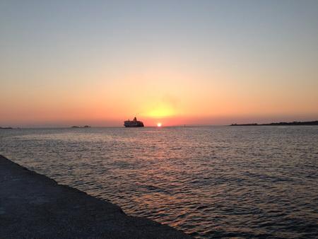 Sonnenuntergang auf PAros