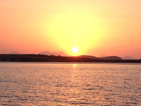 Sonnenuntergang bei Despotiko