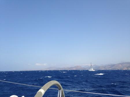 Unterwegs bei 30 Kn Wind