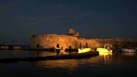 Naousa bei Nacht