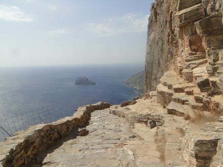 Weg zum Kloster Amorgos