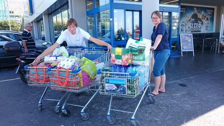 Einkauf beim LIDL in Glyfada