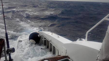 Heckwelle bei 3-4 Meter Welle