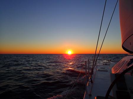 Sonnenuntergang in der Adria
