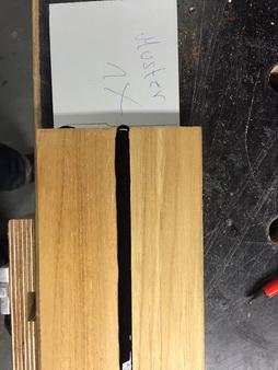 Teak-Deck Probestück