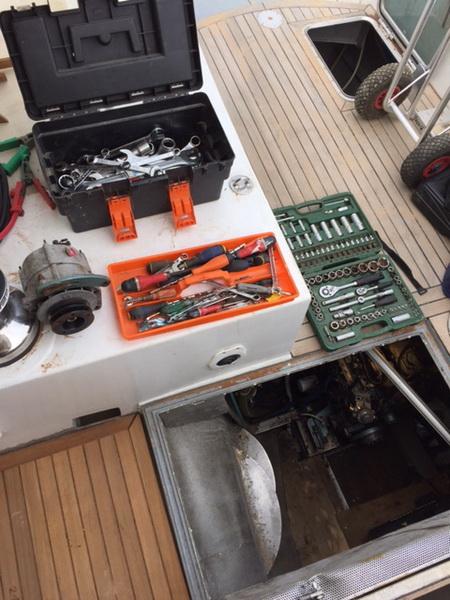Motor und Getriebe Einbau
