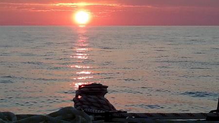 Sonnenuntergang und Ausguck