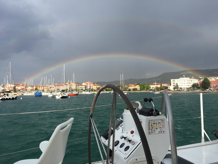 Regenbogen in Izola