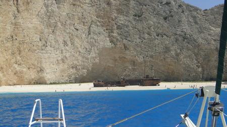 Ship Wreeck Bay auf Zakynthos