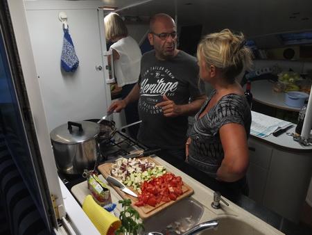 Die Küchenchefs bei der Arbeit