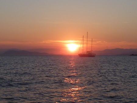Sonnenuntergang in Glyfada