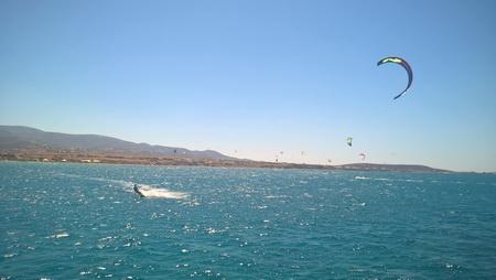 Kitsurfer auf Paros