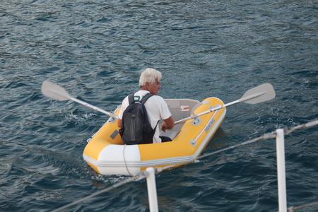 Martin geht von Bord