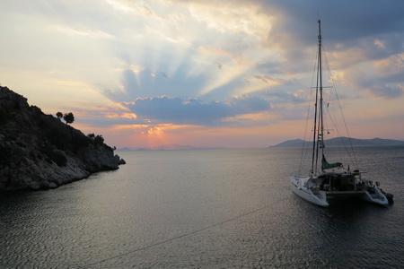 Sonnenaufgang über Kalymnos