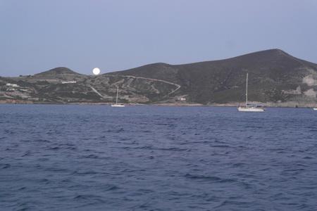 Sonnenunter- und Mondauf Gang
