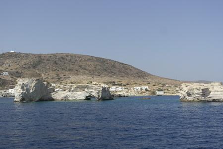 erster Ankerplatz auf Milos Nord