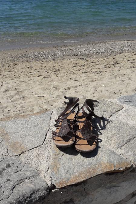 Schuster auf Paros und Schuhe