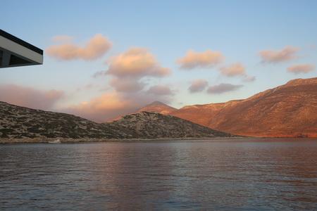 Sonnenuntergang auf Nikouria bei Amorgos
