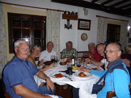 Abschiedsessen in Santa Pola
