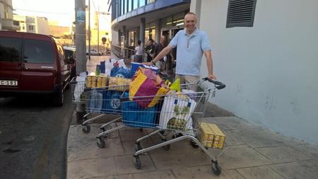 Einkauf beim LIDL auf MAlta