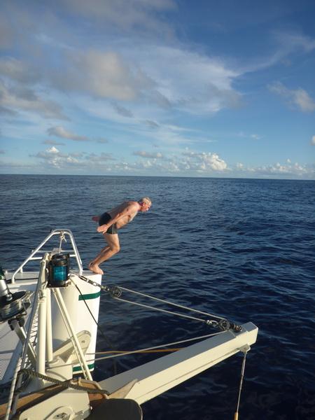 Kopfsprung im Atlantik