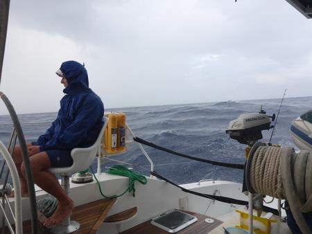 Skipper im REgen