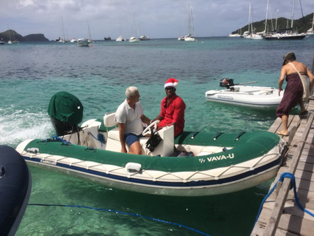 Weihnachtsmann auf Bequia
