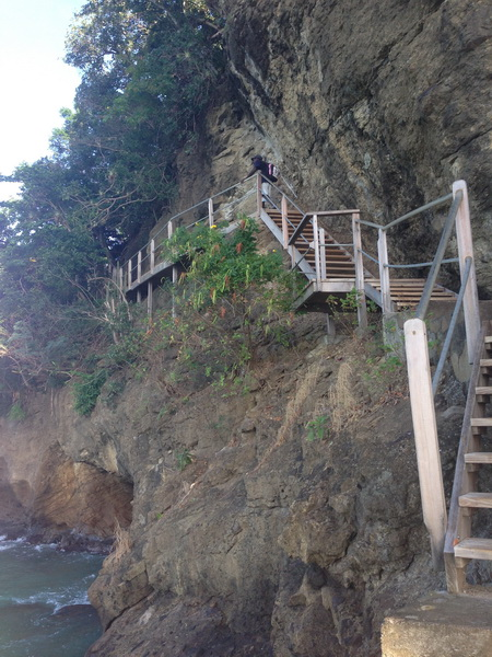 Bequia Wanderweg am Ufer