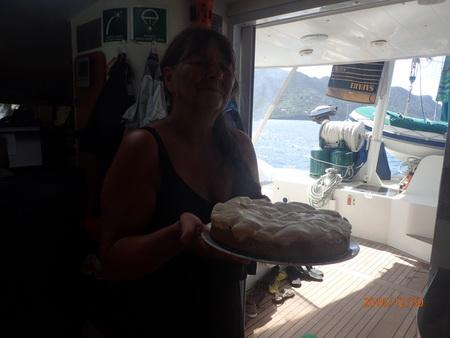 Kuchen an Bord