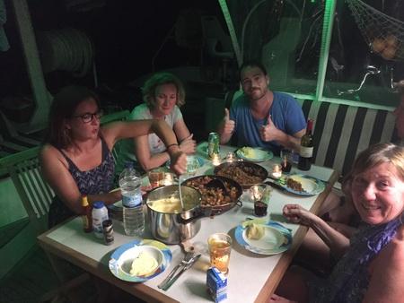 Abendessen auf VAVA-U