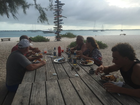 Barbeque am Strand