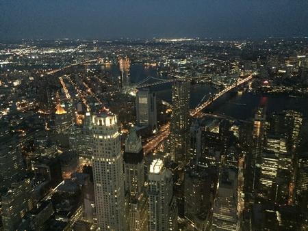 Nachts auf dem One Tower