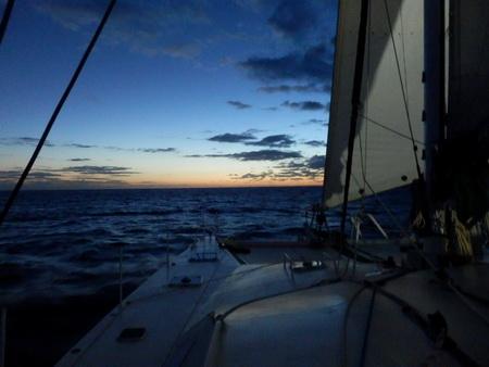 Sonnenaufgang über den Bahamas